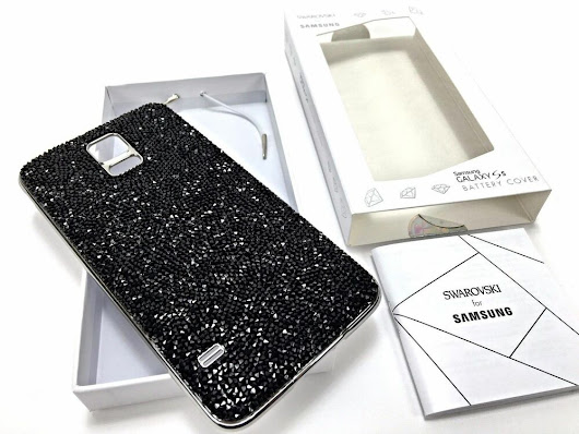 Details about  Samsung Galaxy S5 Genuine Swarovski Crystal Case Battery Back Cover Black