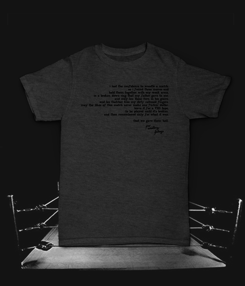 """What We Worked For"" PWF T-Shirt from Holy Demon Army Distro"