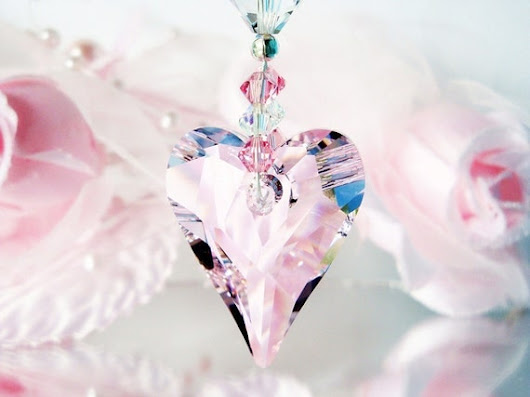 Crystal Suncatcher Rear View Mirror Charm by CrystalBlueDesigns