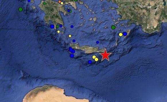 Σεισμός τώρα 5,5 Ρίχτερ στην Κρήτη!