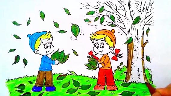 Sonbahar Ağaç Resmi Boyama