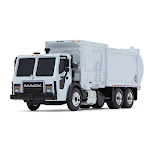 First Gear FIR80-0332 Mack LR Refuse Truck with McNeilus ZR Side Loader White