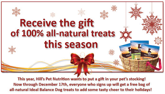 FREE Bag of All-Natural Ideal Balance Dog Treats From Hill's Pet Nutrition!