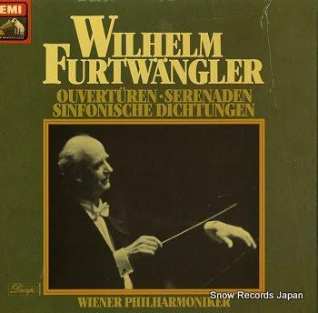 FURTWANGLER, WILHELM ouverturen serenaden sinfonische dichtungen