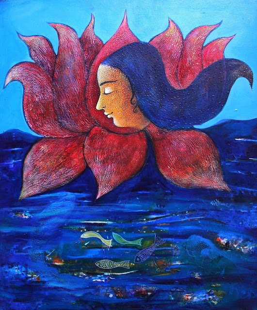 Dream -II (2015) Acrylic painting by Sanjay Punekar