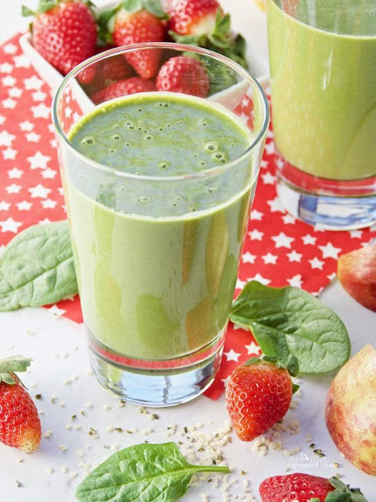 Healthy Hemp Heart Clean Green Smoothie | Homemade & Yummy