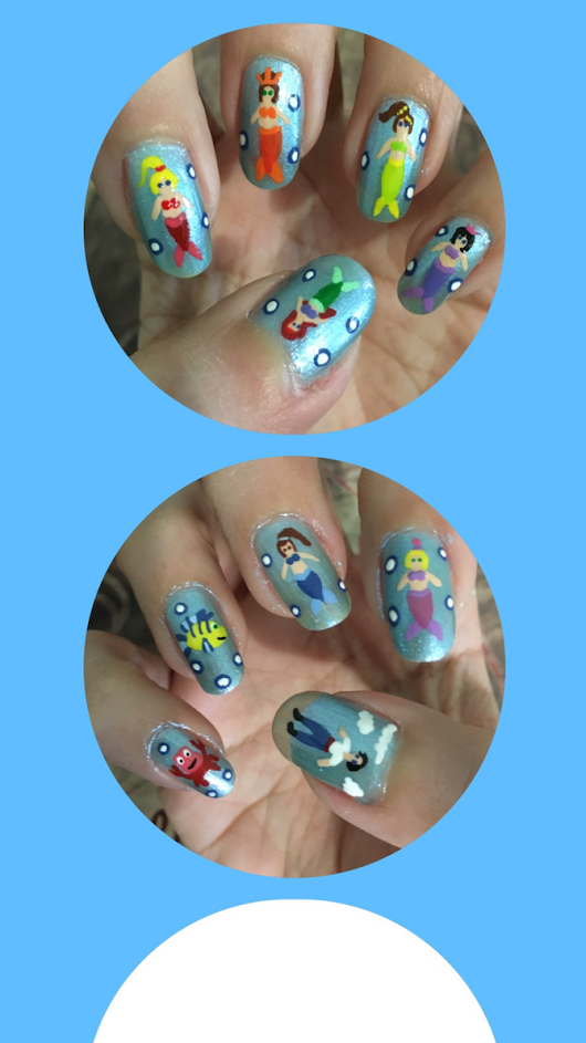 Little Mermaid Nail Art Homescreen
