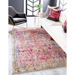 Unique Loom Monterey Adobe Area Rug Pink 9' x 12' 9' x 12' Indoor Living Room, Bedroom, Dining Room