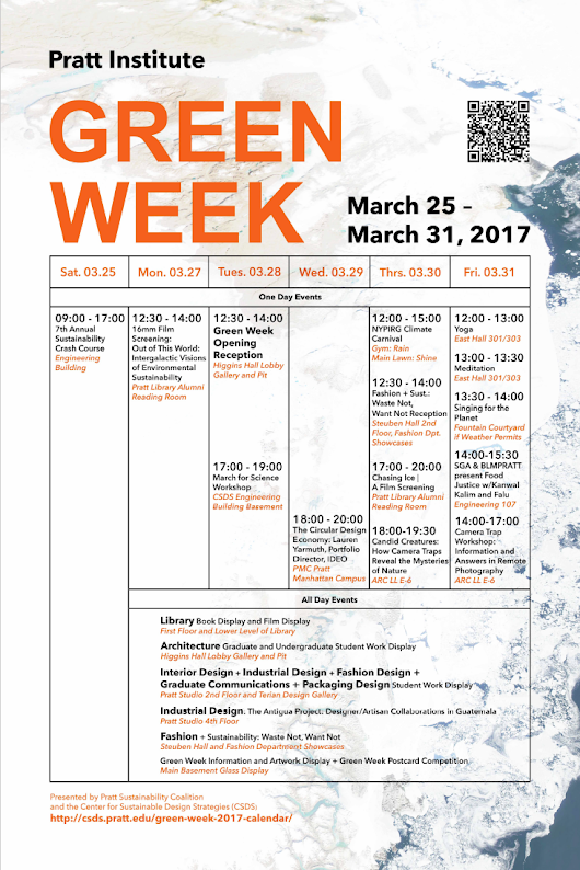 Green Week 2017 opens at Pratt Institute