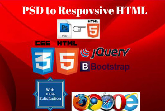 I will convert PSD to html with Responsive