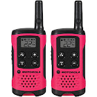 Motorola Talkabout T107 Two-Way Radios, Neon Pink - 2 Pack