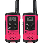 Motorola Talkabout T107 Two-Way Radios, Neon Pink - 2 Pack