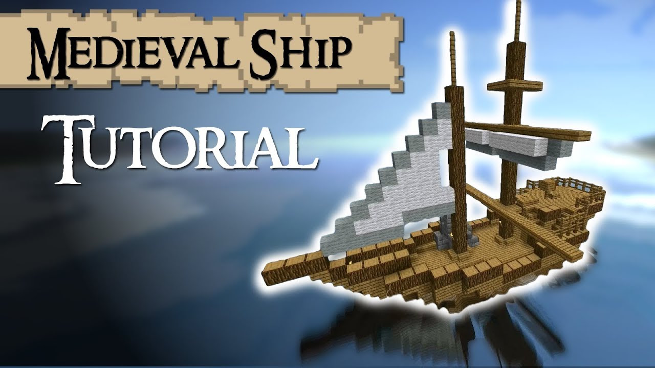 Tutorial: How to build a medieval ship (Tradeship) Version 2 - YouTube