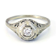 Vintage Wedding Rings 1920   18K Antique Art Deco 1920s