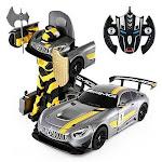 1:14 RC Mercedes-Benz GT3 2.4ghz RC Transformer Dancing Robot Car (Gray)