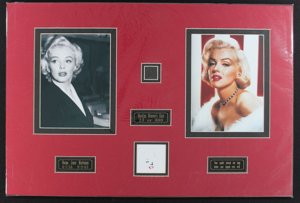 Marilyn Monroe Custom Matted 16x24 Display With Authentic Hair Loa