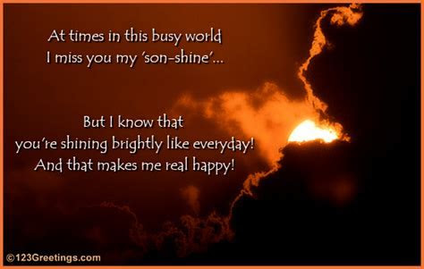 Message For Your Son. Free Son & Daughter eCards, Greeting