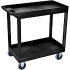Luxor High Capacity 2 Tub Shelf Cart Black - EC11HD-B