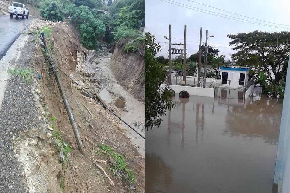 Crecidas ríos y deslizamientos tierra afectan servicio eléctrico en Cibao