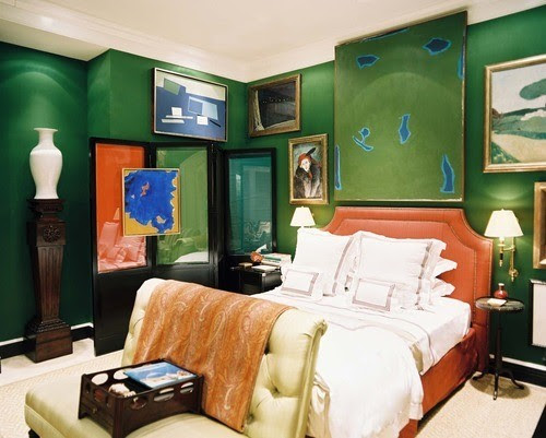 Miles Redd Emerald bedroom