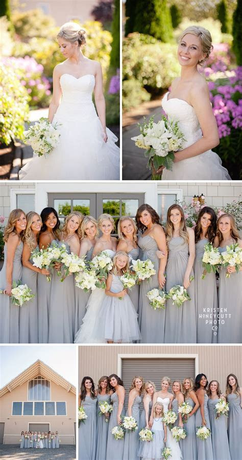 17 Best ideas about Grey Bridesmaids on Pinterest   Grey