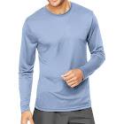 Hanes Sport Men's Cool Dri Performance Long Sleeve T-Shirt, Blue