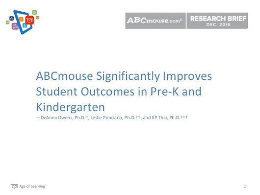 Age of Learning Research | ABCmouse Improves Academic Performance for…