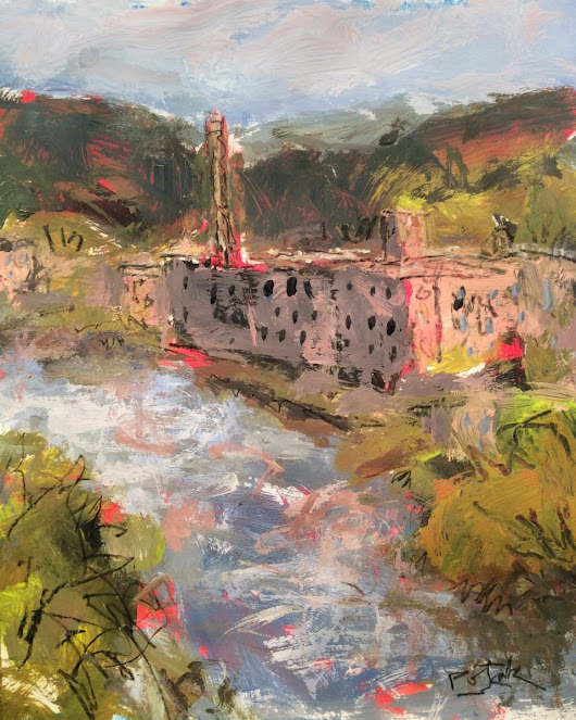 New England Mill (2017) Acrylic painting by Russ  Potak