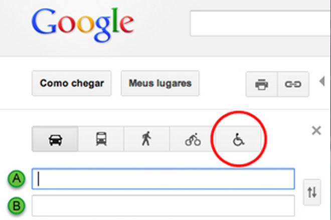 Resultado de imagem para google maps para cadeirantes
