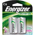 Energizer Recharge Universal Rechargeable C Batteries, 2500 mAh - Silver - 2 count