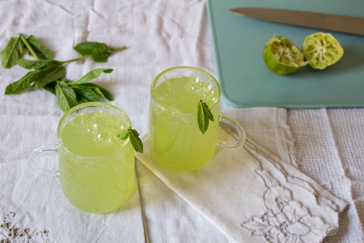 Elderflower, Cucumber and Mint Fizz - All That I'm Eating