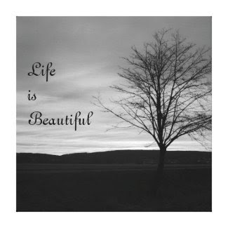 Life is Beautiful Stretched Canvas Print zazzle_wrappedcanvas