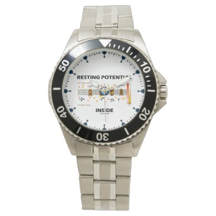 Resting Potential Inside Active Transport Humor Wrist Watch