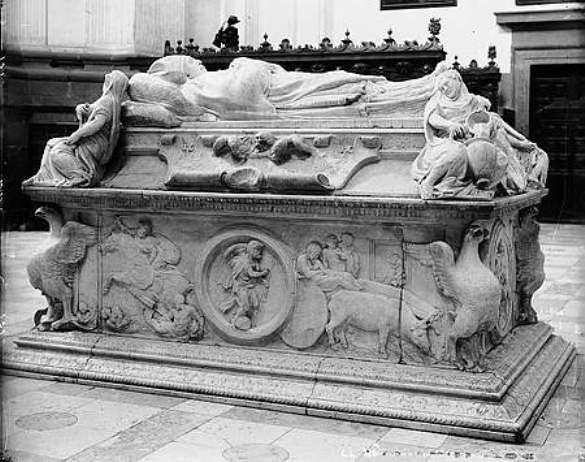 Sepulcro del Cardenal Tavera hacia 1880. Fotografía de Levy
