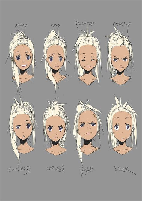 anime expressions drawing  getdrawingscom