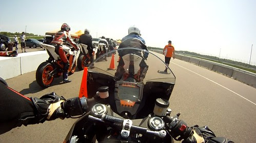 Riding the RC8R Onboard Ready to Ride