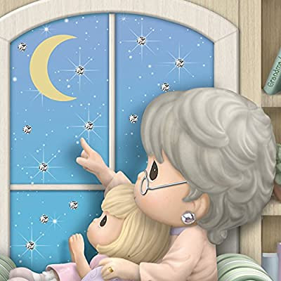 Precious Moments Granddaughter, I Love You To The Moon And Back Figurine by The Bradford Exchange