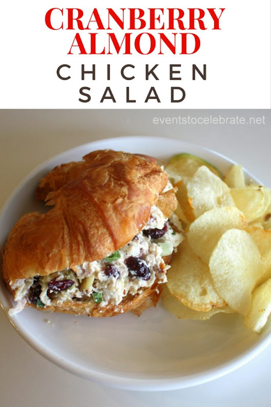 Cranberry Almond Chicken Salad - events to CELEBRATE!