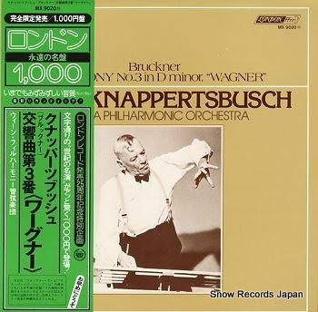 KNAPPERTSBUSCH, HANS bruckner; symphony no.3 in d minor, wagner