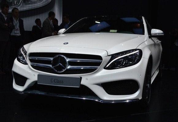 Classe 2015 Mercedes benz c NAIAS frente Detroit Auto Show jan 2014