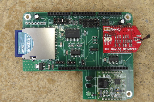 RN-XV, SD and magnetometer shield