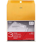 "Mead Clasp Envelopes Heavyweight 10""x13"" Brown Kraft"