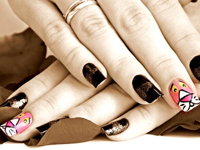juliana leite nail art pink pantera cor de rosa unhas decoradas 002