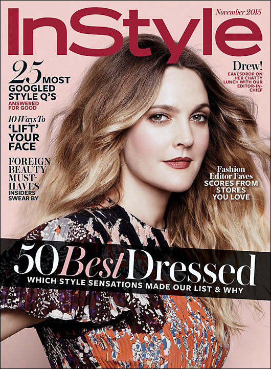 drew barrymore whining about being fat in instyle magazine