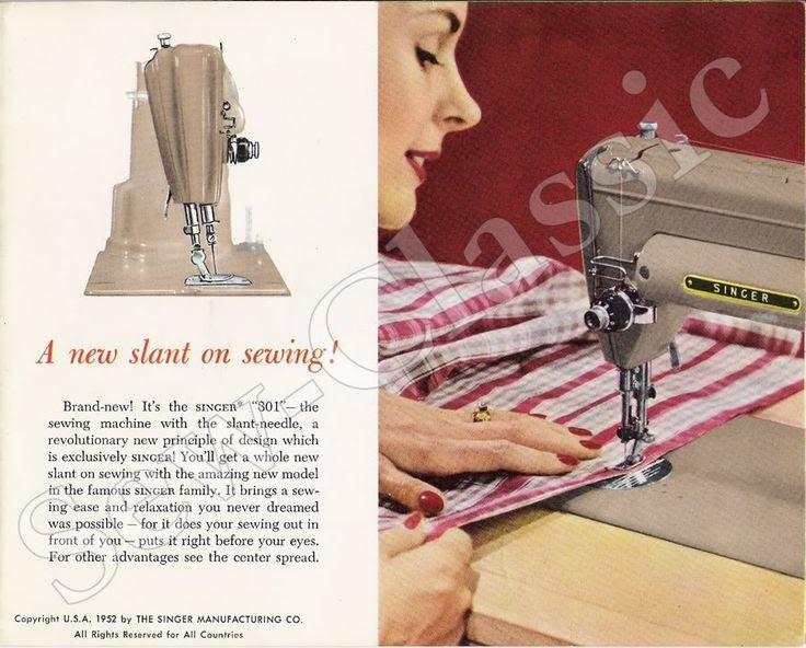 1952 sewing machine ad