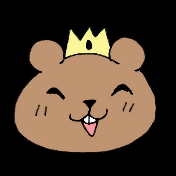 王冠をかぶるクマのイラスト かわいいフリー素材が無料のイラストレイン