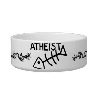 Atheist Fish Cat Bowls