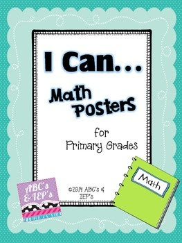 I Can....Math Mini-Posters for Primary Grades