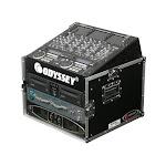 Odyssey Cases FR1006 Flight Ready Mixer Combo 6U Vertical Rack DJ Case