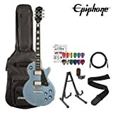 Epiphone Les Paul Custom Pro Electric Guitar Kit- Includes: Gig Bag, Stand, Strap, Cable, Tuner and Pick Sampler...